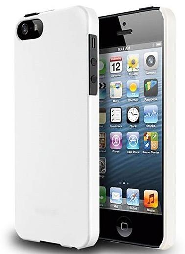 Microsonic iPhone  5 & 5S Rubber Kılıf Beyaz Renkli